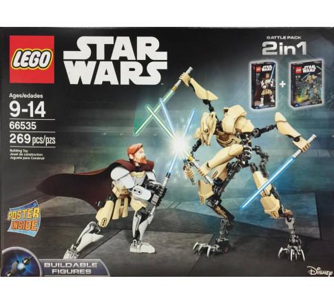 LEGO Star Wars 66535 - Grievous đại chiến Obi-Wan Kenobi (LEGO Star Wars 66535 Battle Pack 2 in 1: Grievous vs. Obi-Wan Kenobi, Mã: 66535)